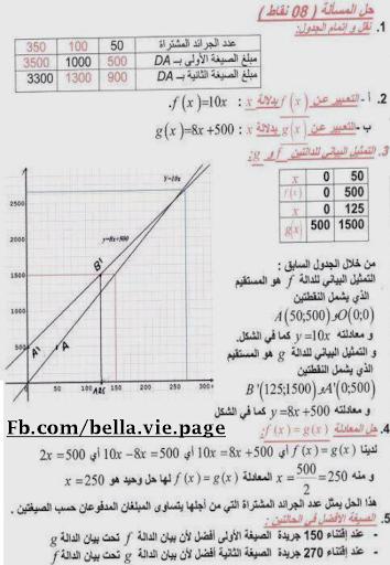 تصحيح اختبار الرياضيات لشهادة التعليم المتوسط 2012 بدون تحميل 3.png