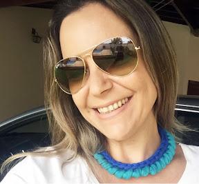 Atelie Debora Alves Colar em crochê com fio de malha: outro modelo