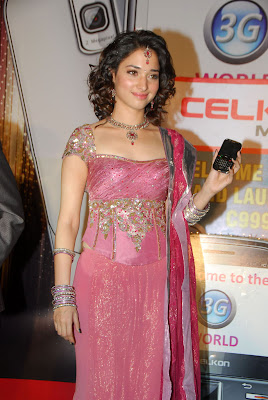 Tamanna at Celkon C 999 3G Mobile Launch Stills