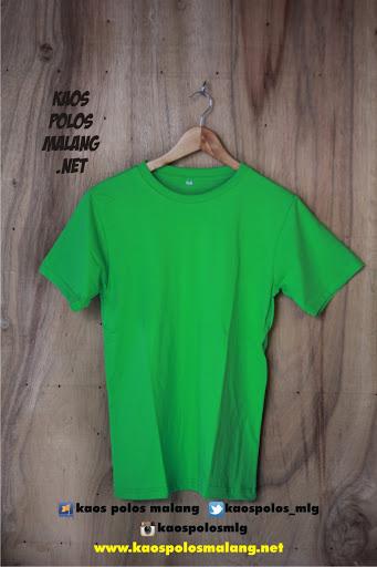 kaos polos cowok hijau muda malang