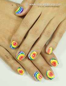 Rainbow After the Rain Nail Art Design by Simply Rins