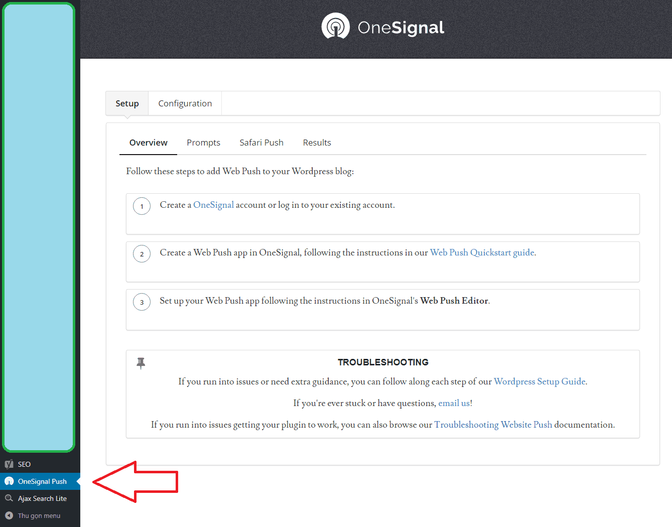 Hướng dẫn cài đặt Push Notifications bằng Plugin OneSignal - Free Web Push Notifications
