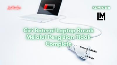 baterai laptopdicharge 0% terus