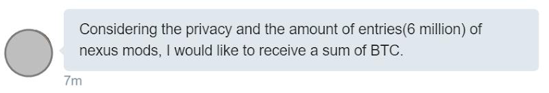Asking for BTC to share Nexus Mods
