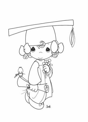 Graduate Girl Precious Moments Coloring Pages Coloring