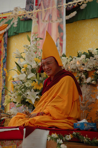 Long Life puja offered to Lama Zopa Rinpoche after the CPMT Meeting at Institut Vajra Yogini, France, May, 2009.