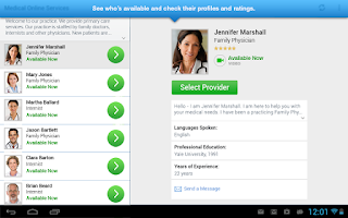 Screenshot of Online Care Anywhere