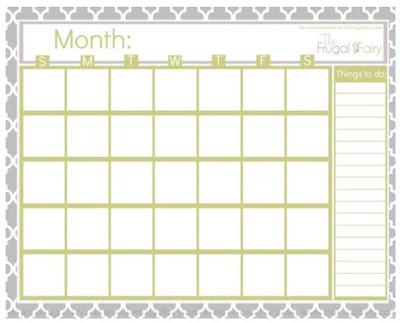 blank chevron calendar