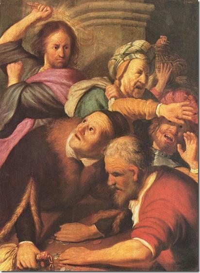 Wiki Tempelreinigung Rembrandt