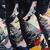 Drei Engel - Schwarze Variante, 1992. �l auf Leinwand, 150 x 200 cm (ungerahmt), signiert.