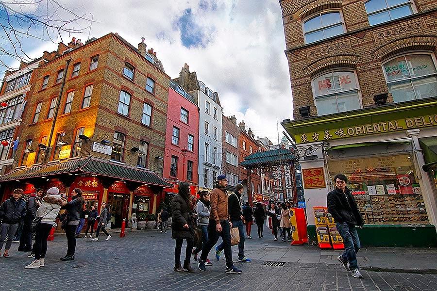 Chinatown en el barrio Soho de Londres