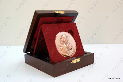 Absi 3D bas-relief medal Virgin Mary by Absi co