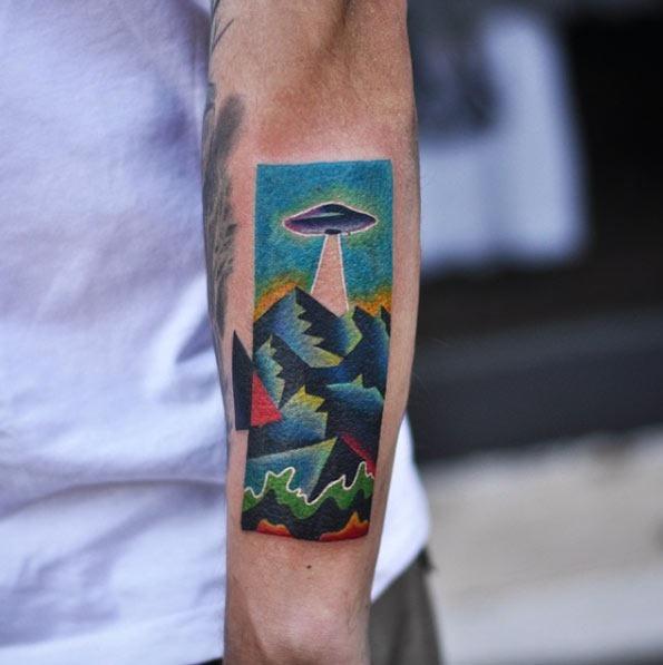 Este incrível antebraço tat