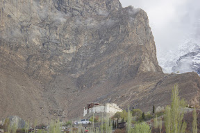 View of Baltit Fort from Hilltop hotel window.