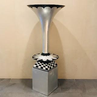 DK Living Pedestal Trumpet Floor Vase