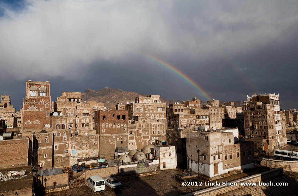 Double Rainbow Over Sana'a