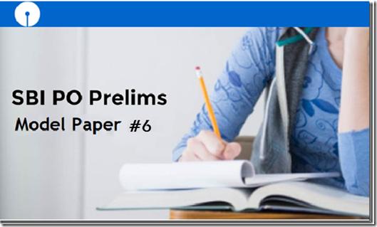 Free SBI PO 2017 Prelims Model Paper 6