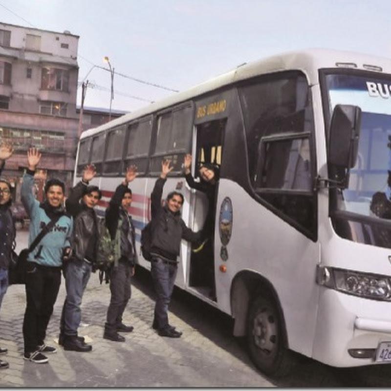 UMSA pone en marcha buses, pero sus estudiantes no saben