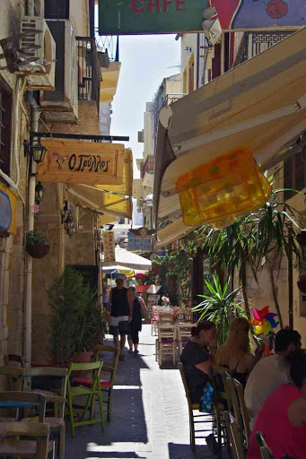 La Canée (Χανιά), ruelle du centre-ville.
