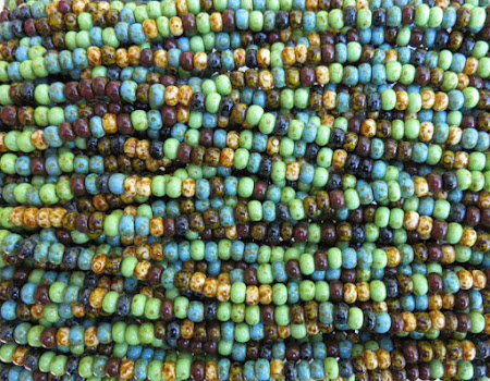Bohemian Picasso Seed Beads from Beads and Babble
