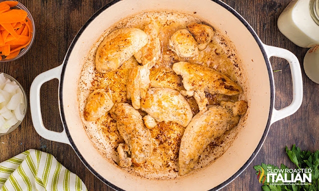 olive garden chicken and gnocchi soup chicken cooked in a dutch oven