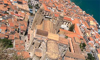 Sizilien - Cefalù - Der Dom von oben