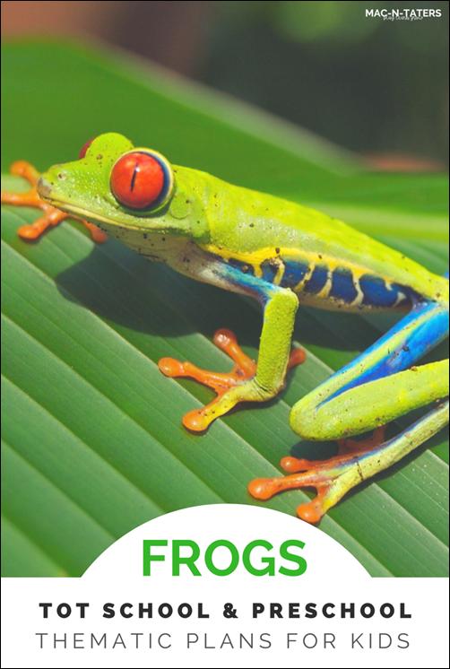 Frog Theme Tot School & Preschool Plans