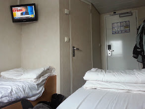 Photo: Comfy berth on the ferry to Port aux Basques.  I watched 2 world cup games there.