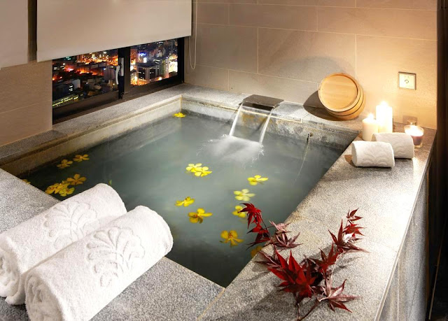 my private thermal bath at Hotel Royal in Beitou, Taiwan in Beitou, T'ai-pei county, Taiwan