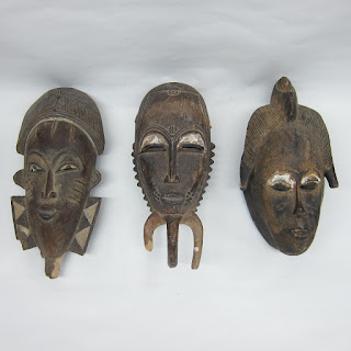 Carved Ceremonial Icon Masks, Lot of 3
