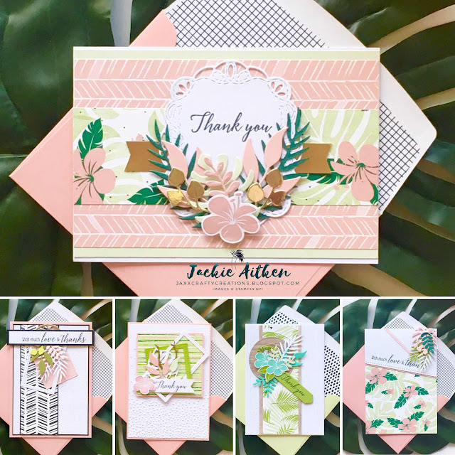 stampin up, tropical escape dsp, tropical chic