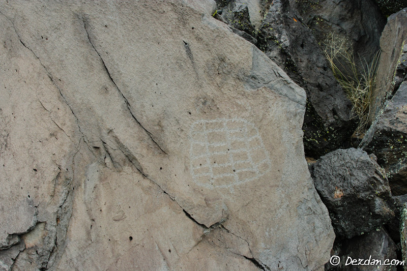 A lone petroglyph.