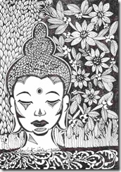 412 Zentangle Buddha