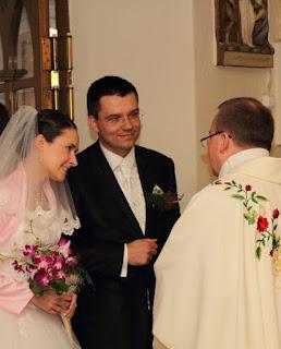 przywitanie przez księdza Krzysztofa