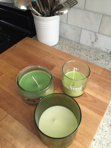 Candles that have been fixed.