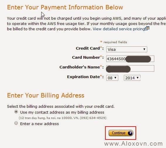 Thông tin tài khoản tín dụng Email Amazon SES