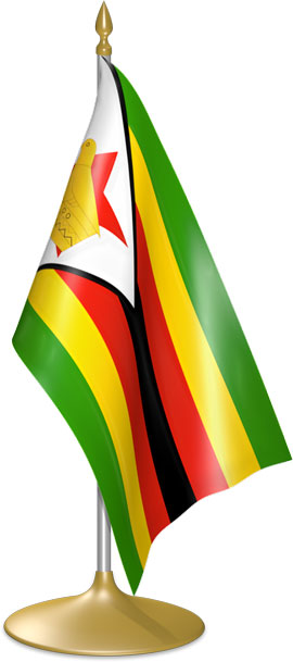 Zimbabwean table flags - desk flags