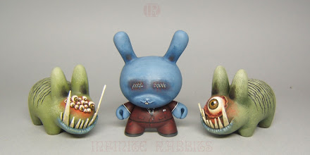 """Photo: Redsuit Dunny & Sin Herd - 3"""" Dunny & 2.5"""" Labbits"""