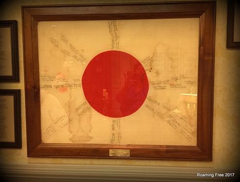 Japanese Flag captured at Iwo Jima