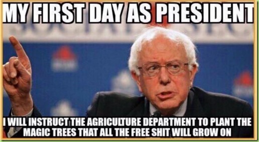 bernie's free shit trees