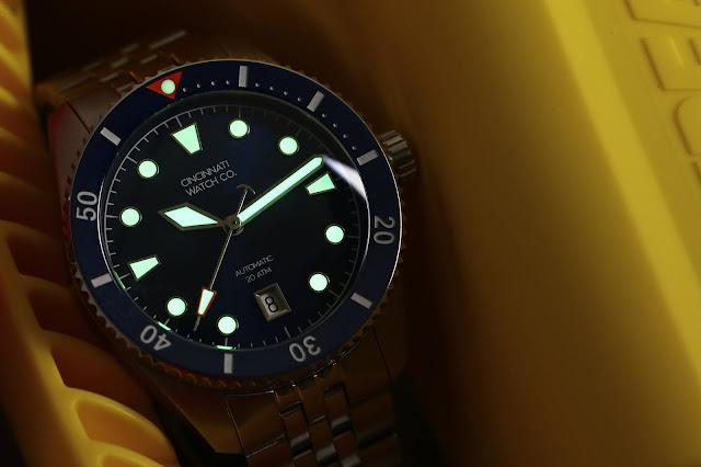 Cincinnati Watch Co. Diver's Edition lume