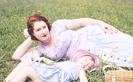 Mother & Daughter vintage girl fashions | Lavender & Twill