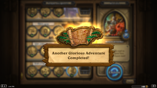 """Hearthstone: League of Explorers - Another Glorious Adventure Completed!"""" width="""