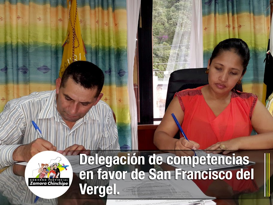 DELEGACIÓN DE COMPETENCIAS EN FAVOR DE SAN FRANCISCO DEL VERGEL