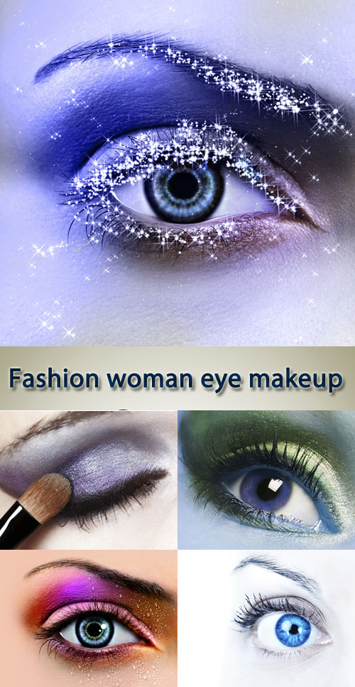 Stock Photo: Fashion woman eye makeup