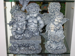 Cherub, Child, Figure, Interior, Marble, Statues