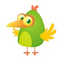 Cartoon Green Bird Free Download Vector CDR, AI, EPS and PNG Formats