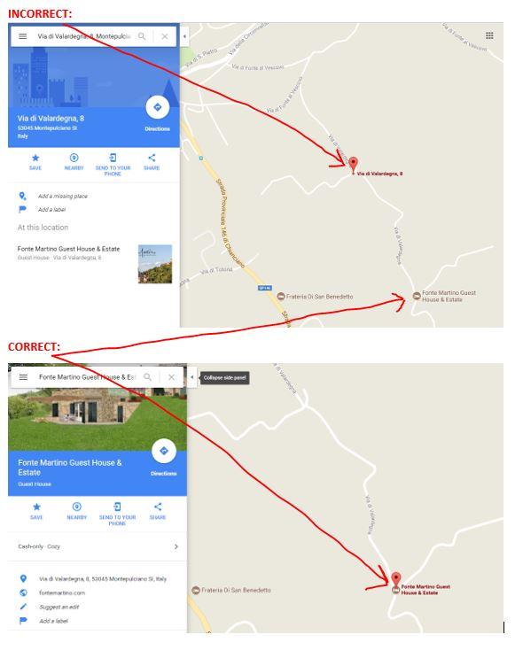 Address Location Map on