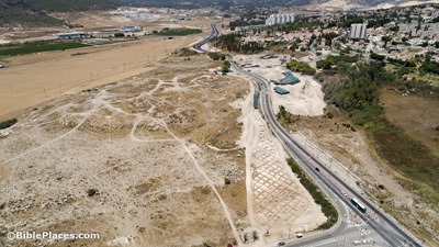 Beth Shemesh new excavations aerial from southwest, ws062018211
