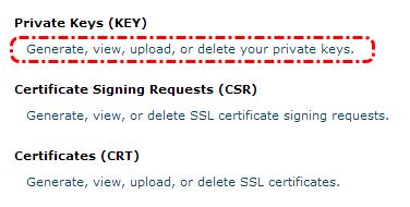 Membuat private keys